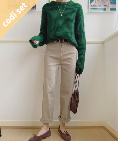 Molly wool knit + floor brushed pants