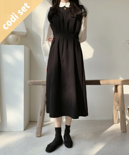 Soho Cotton Blouse + Emma Shirring Dress