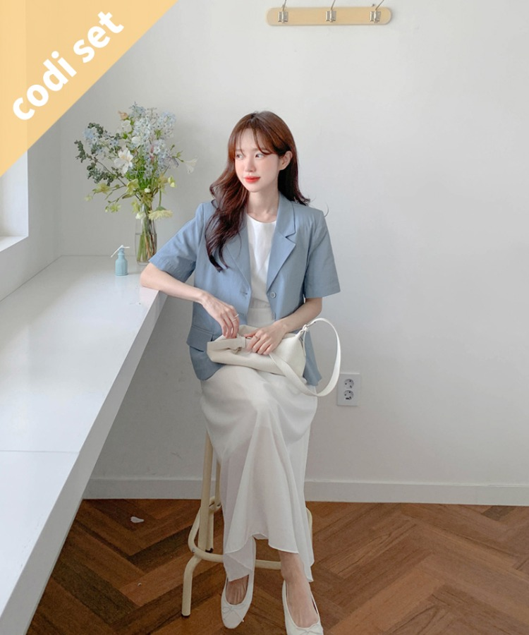 Ross Linen Jacket + Need Round Dress