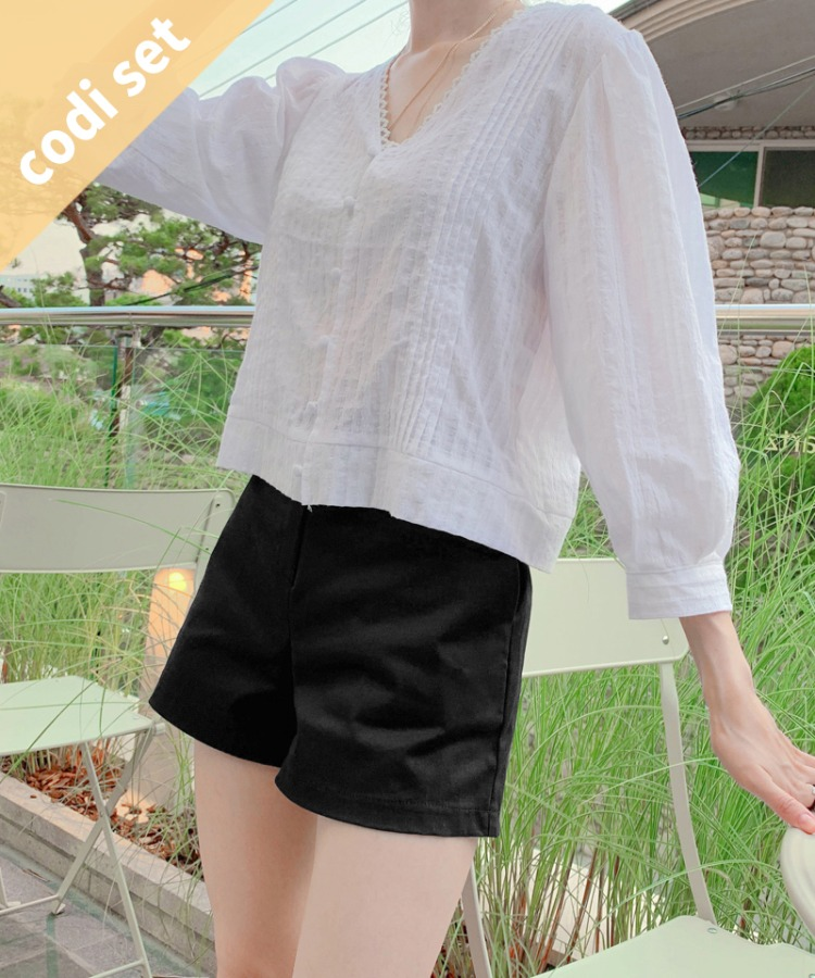 Annes Blouse + Slow Short Pants