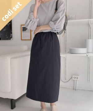 Clean Blouse + Ever Cotton Skirt