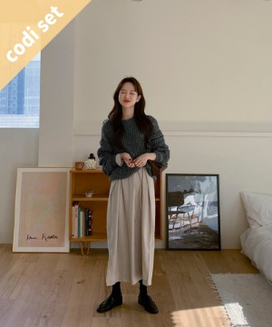Luming Alpaca Wool Knit + Kiel Dress