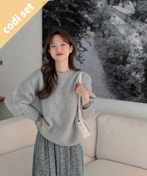 Momo Wool Knit + Seren One Piece