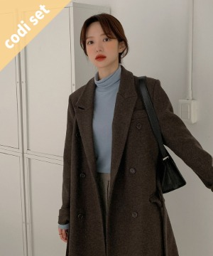 Tenny Double Coat Wool 70% + Day Polar T-shirt