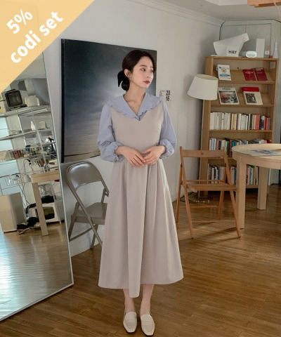 Boulybly Blouse + Lara V-Neck Dress