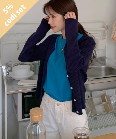 Olio Cardigan + Syrup Cotton T-shirt Women's Clothing Shopping Mall DALTT